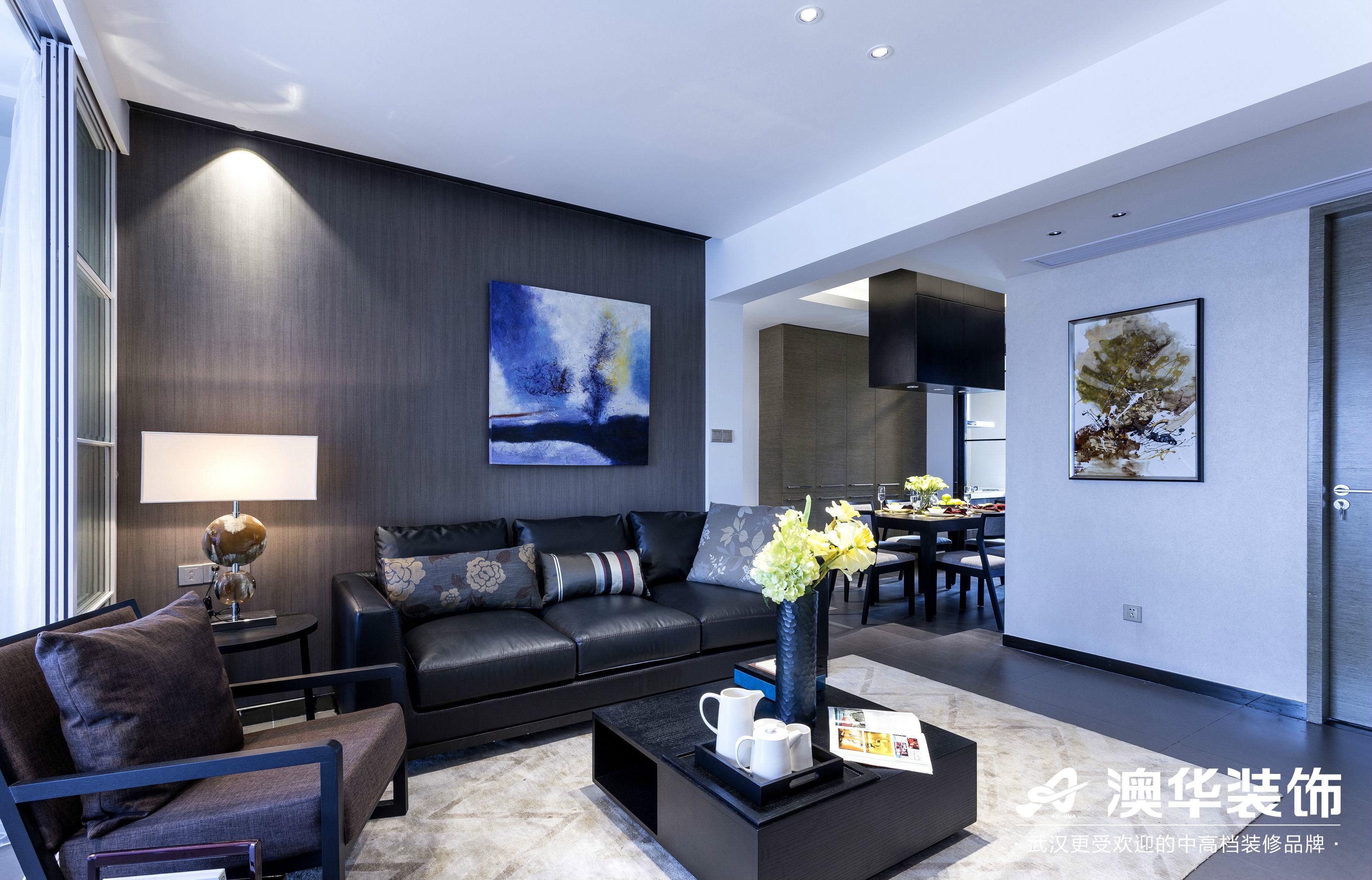 客厅图片来自澳华装饰有限公司在金地雄楚1号现代风格的分享