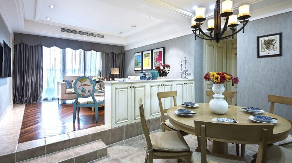 餐厅图片来自澳华装饰有限公司在汉口湖畔美式风格的分享