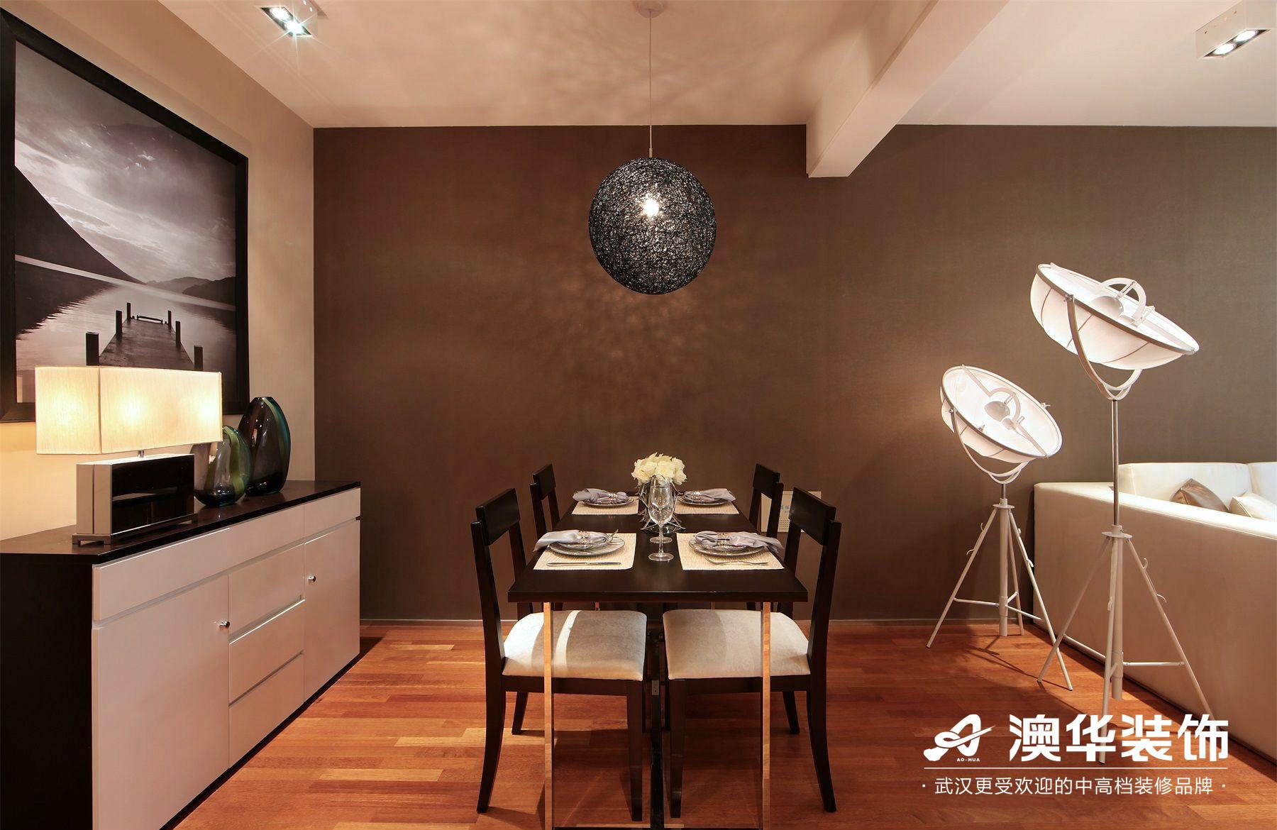 餐厅图片来自澳华装饰有限公司在汉口湖畔·现代风格的分享