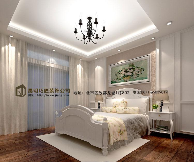 简约 欧式 跃层 卧室图片来自fy18788527513在滇池橡尚小区  简欧风格的分享