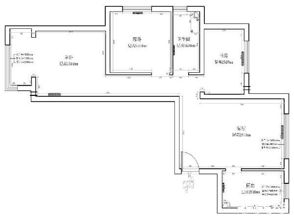 金隅汇景苑87平原始户型图