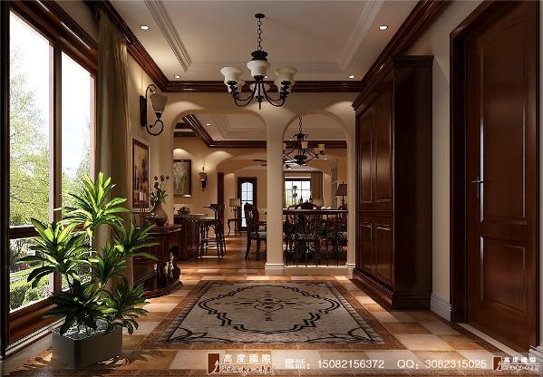 恒大金碧天下门厅细节效果图---成都高度国际装饰设计