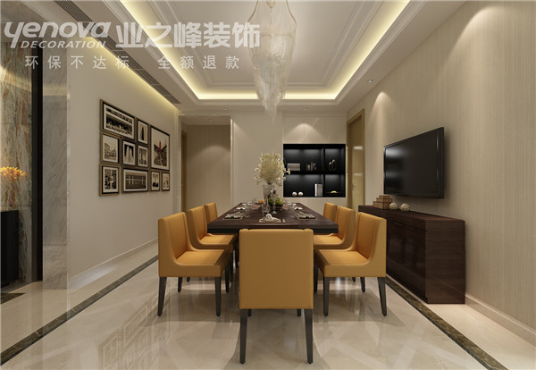 餐厅图片来自业之峰太原分公司在光信国信现代设计风的分享