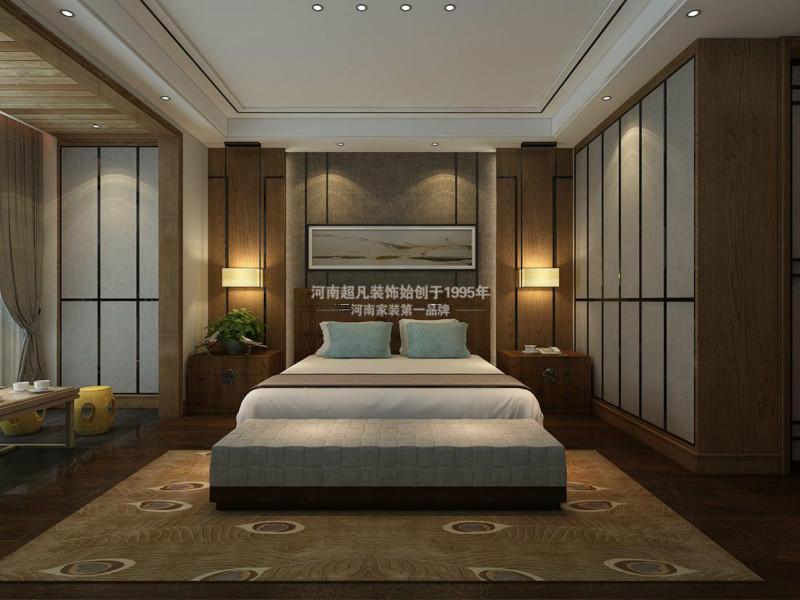 四居室 华润悦府 小资 新中式风格 现代中式 卧室图片来自郑州最好的装修公司-河南超凡在华润悦府170平户型装修效果图的分享