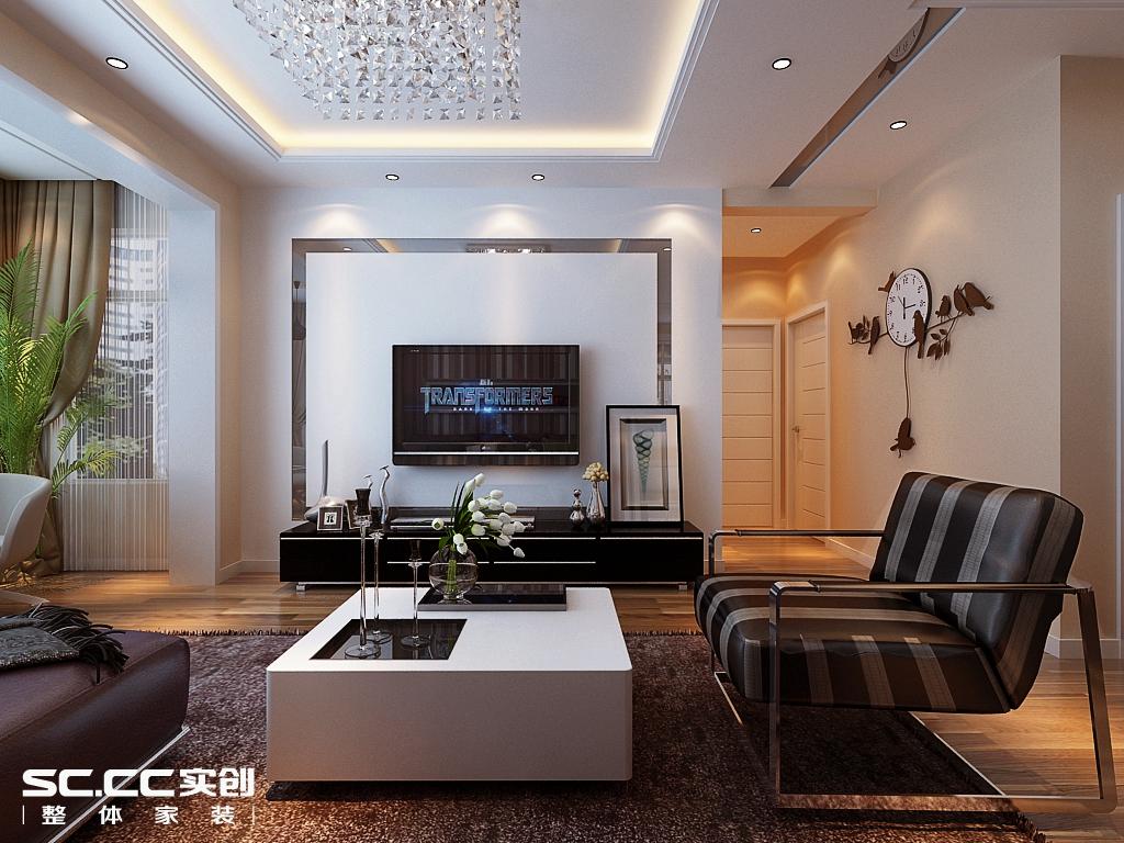 三居 现代 客厅图片来自哈尔滨实创装饰阿娇在群力观江国际134平现代简约三居的分享