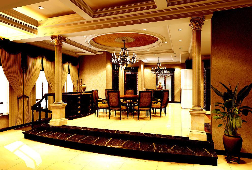 欧式 别墅 东方普罗旺 别墅装修 餐厅图片来自北京居然元洲装饰小尼在东方普罗旺斯古典欧式尽显大气的分享