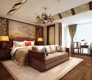 简约中式风格淡雅色调,舒适温馨