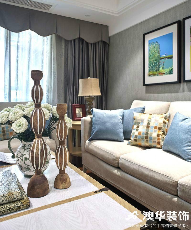 客厅图片来自澳华装饰有限公司在汉口湖畔美式风格的分享