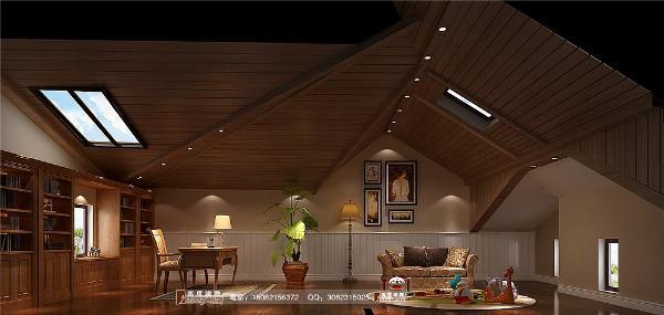 和泓半山阁楼细节效果图--成都高度国际装饰设计