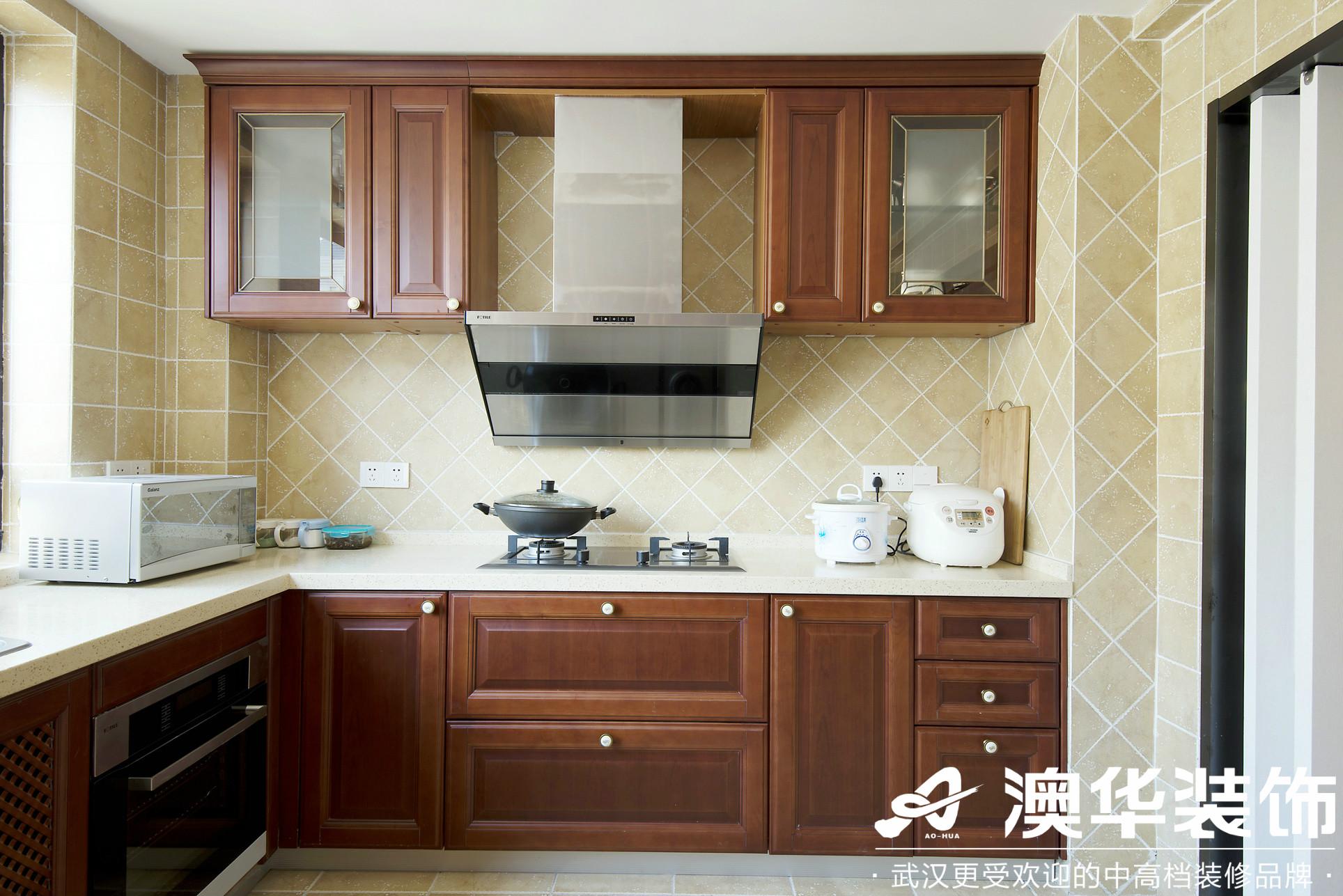 厨房图片来自澳华装饰有限公司在远洋世界剑桥郡美式风格的分享
