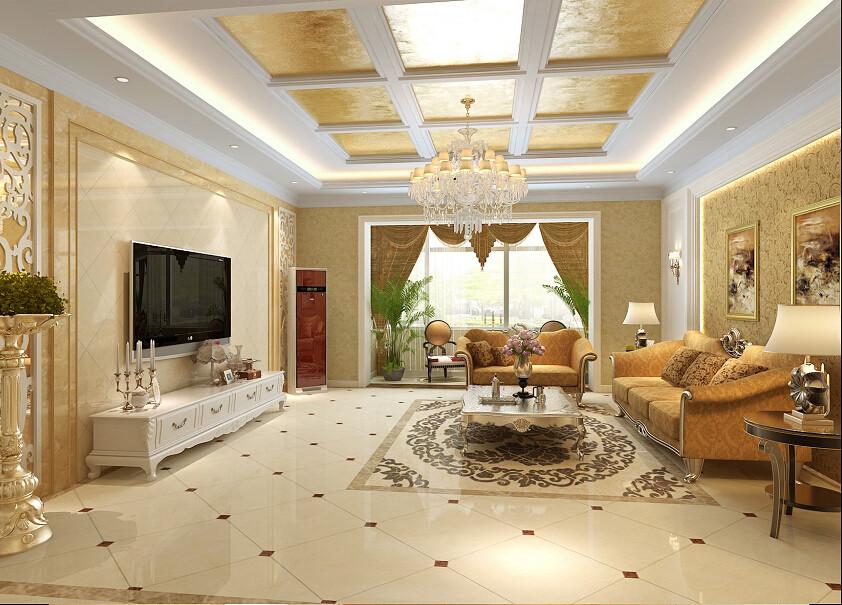 客厅图片来自北京居然元洲装饰小尼在万科水榭花都160平米简欧风格的分享