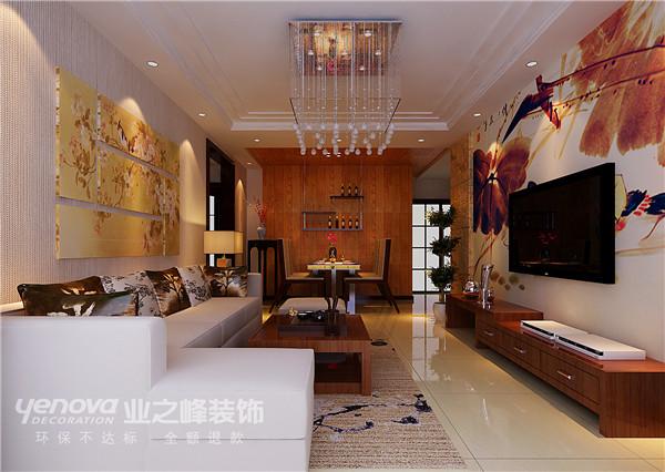 新中式 太原业之峰 平阳景苑 三居 客厅图片来自太原业之峰小李在平阳景苑的分享