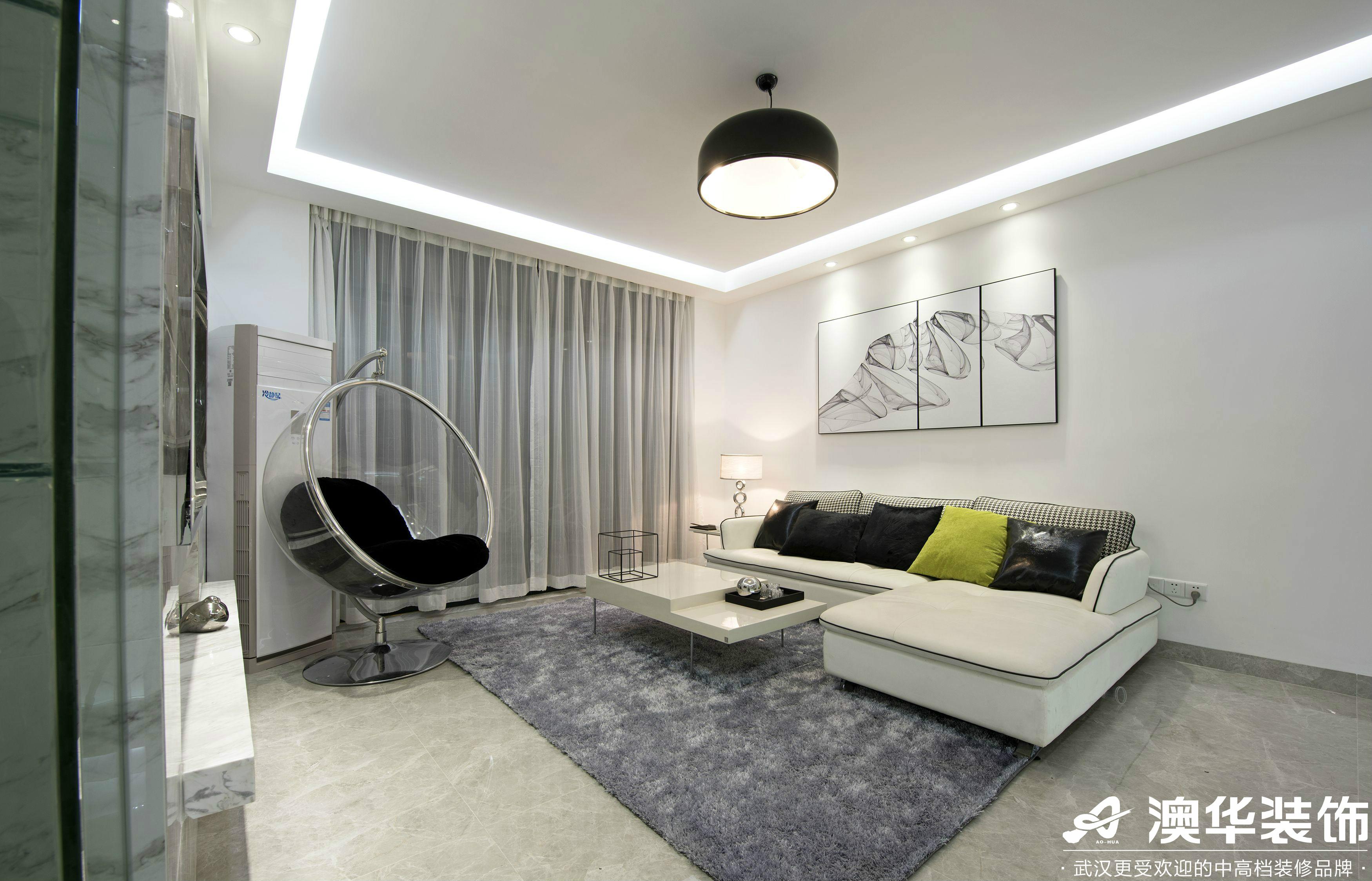 客厅图片来自澳华装饰有限公司在悦达新天地现代风格的分享