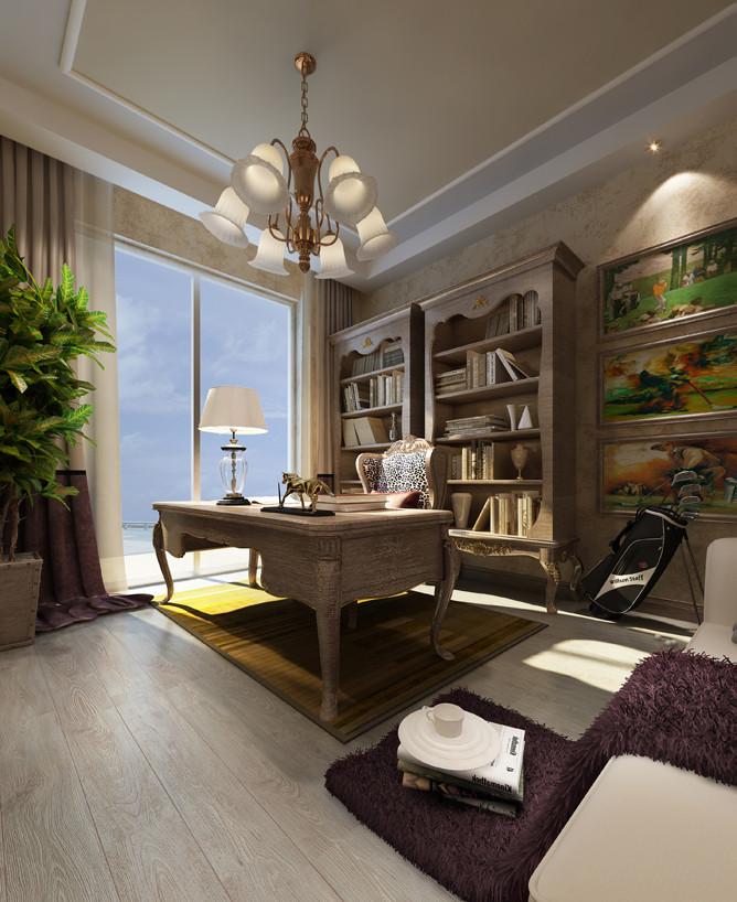 书房图片来自北京居然元洲装饰小尼在150平面复式结构欧式风格图的分享