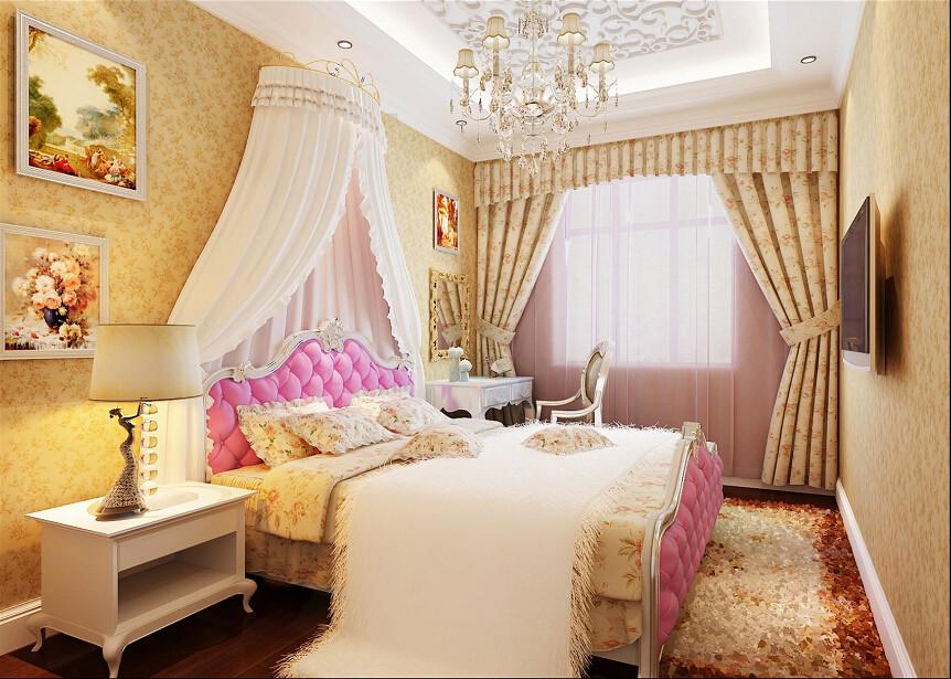 卧室图片来自北京居然元洲装饰小尼在万科水榭花都160平米简欧风格的分享