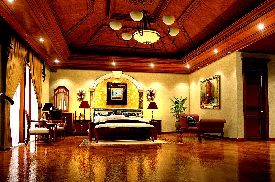 欧式 别墅 东方普罗旺 别墅装修 卧室图片来自北京居然元洲装饰小尼在东方普罗旺斯古典欧式尽显大气的分享