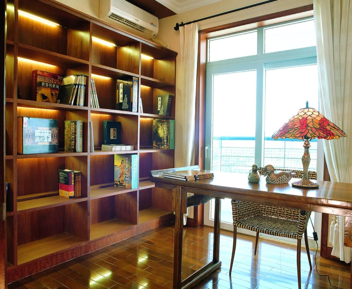 书房图片来自北京居然元洲装饰小尼在惊艳之作200平复式美式混搭实景的分享