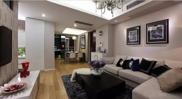 简约 二居 旧房改造 客厅图片来自实创装饰上海公司在74㎡温馨小两居的分享
