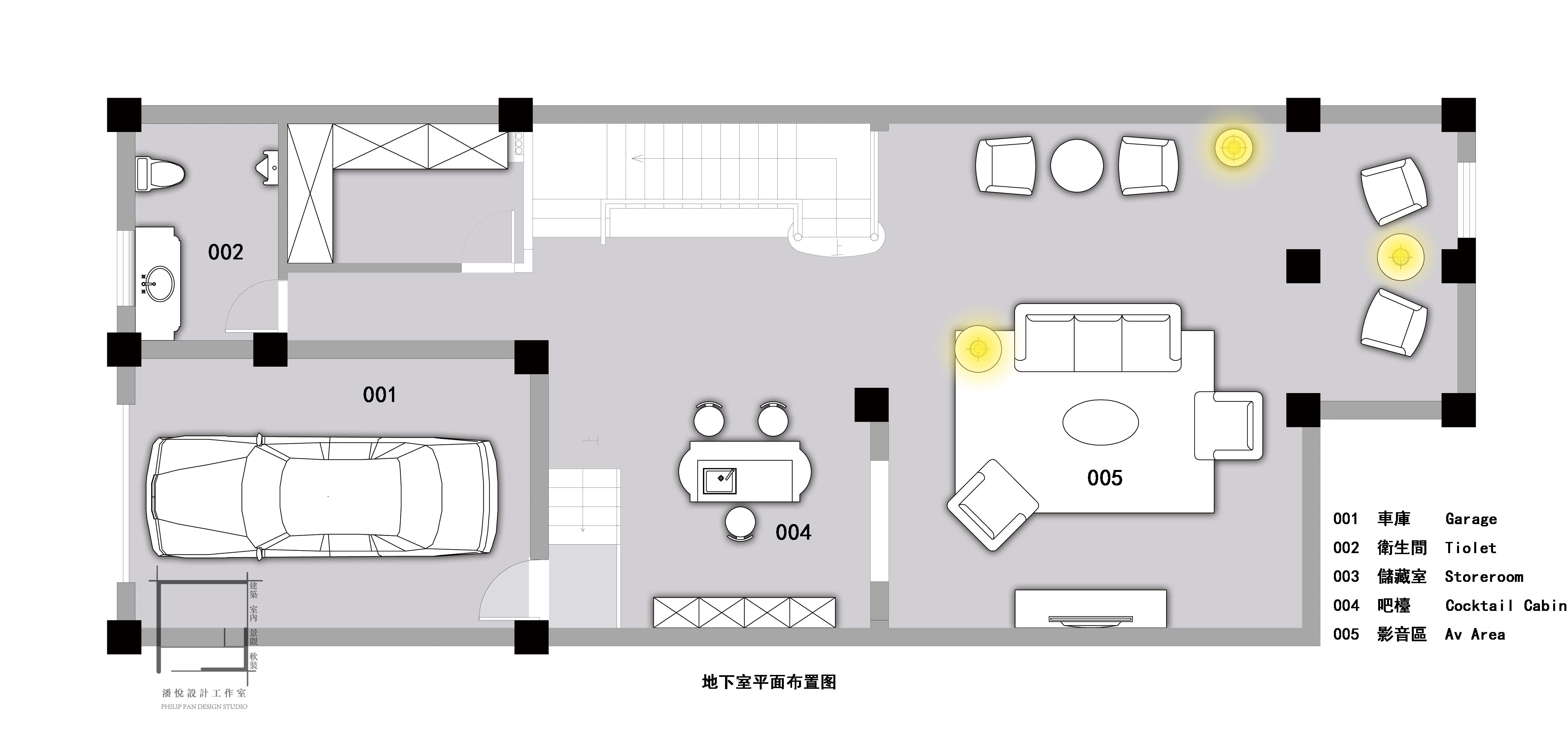 一层平面图片来自潘悦设计事务所在雅舍·靜生活-常熟信壹景天花園的分享