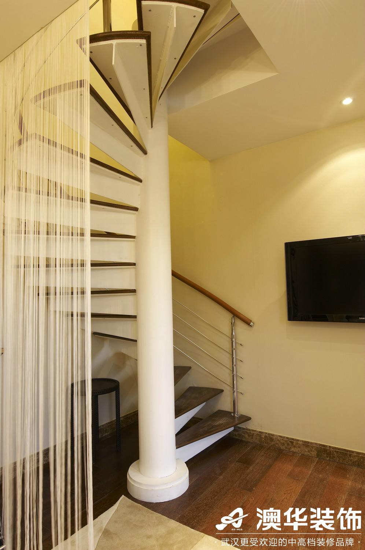 楼梯图片来自澳华装饰有限公司在联投花山郡·东南亚风格的分享