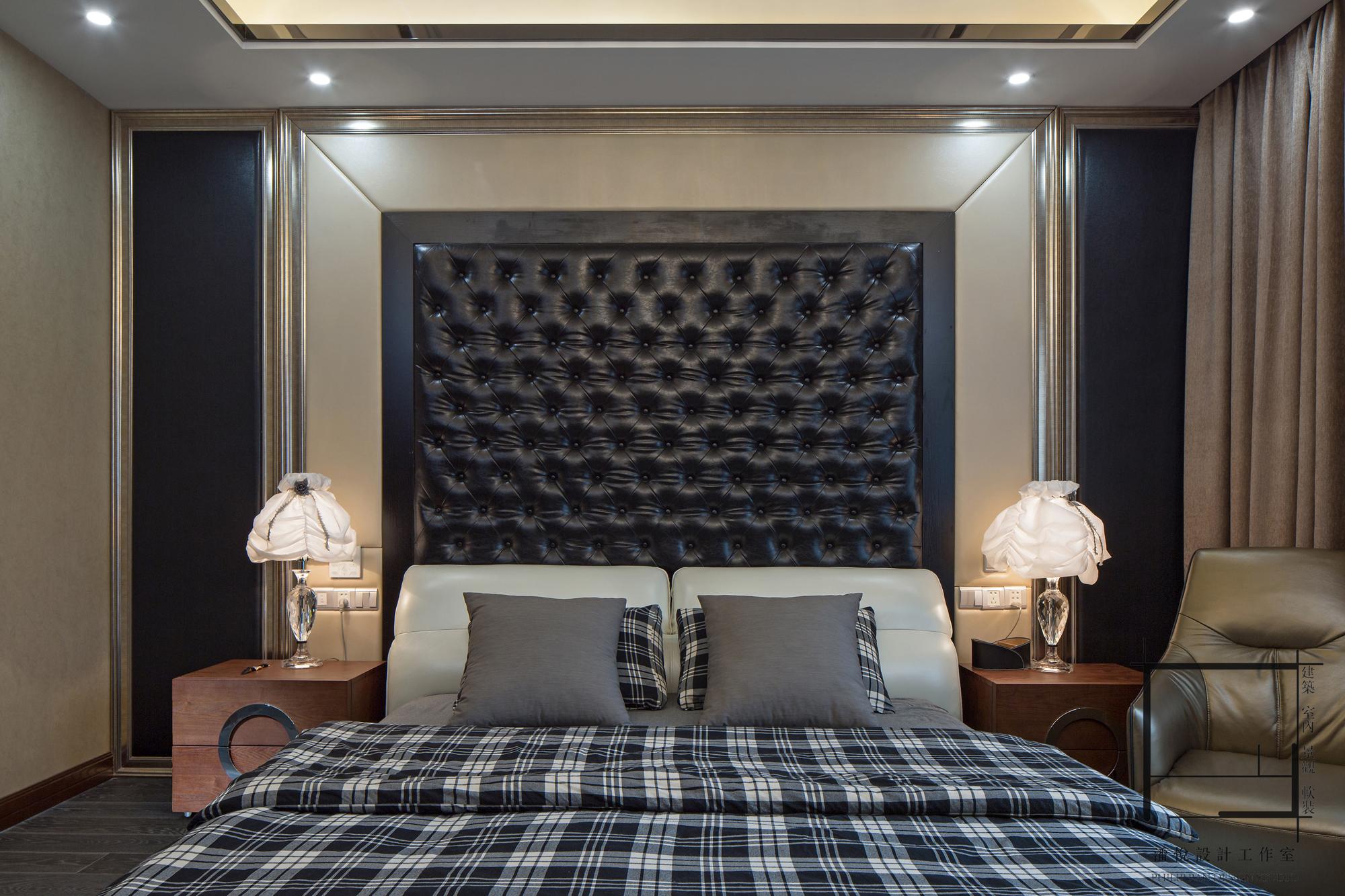 简约 混搭 别墅 小资 主卧床头背图片来自潘悦设计事务所在雅舍·靜生活-常熟信壹景天花園的分享