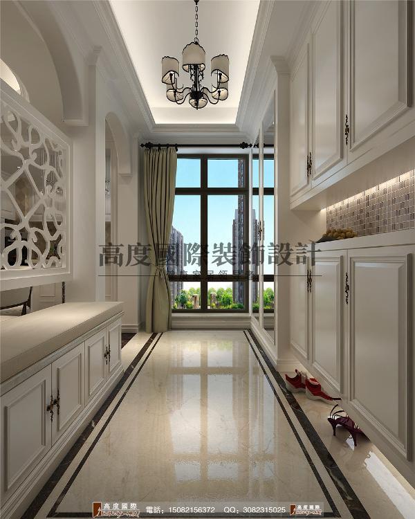 红树湾门厅细节效果图---成都高度国际装饰设计