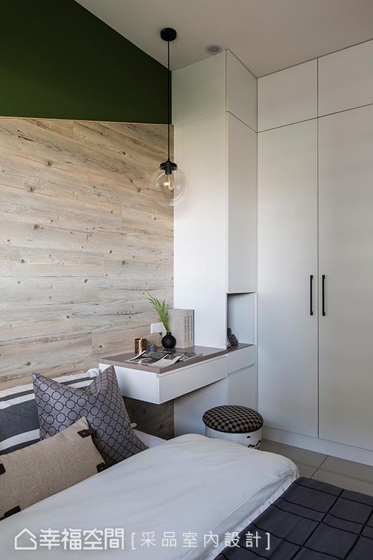 卧室图片来自幸福空间在109平轻盈明亮的工业风宅的分享