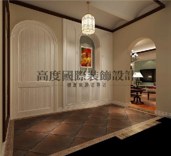 白色的拱门和百叶窗都是托斯卡纳风格的典型的特征,拱形的设计也给空间增加层次感。