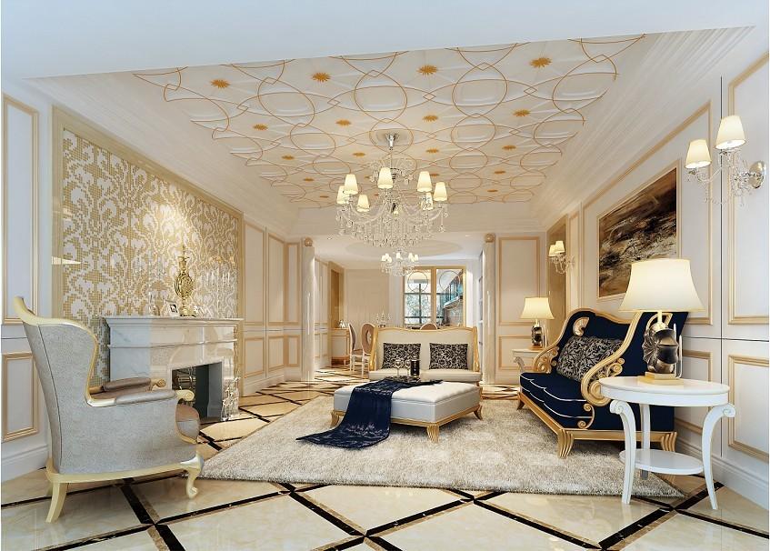 客厅图片来自北京居然元洲装饰小尼在120平米欧式清新的分享