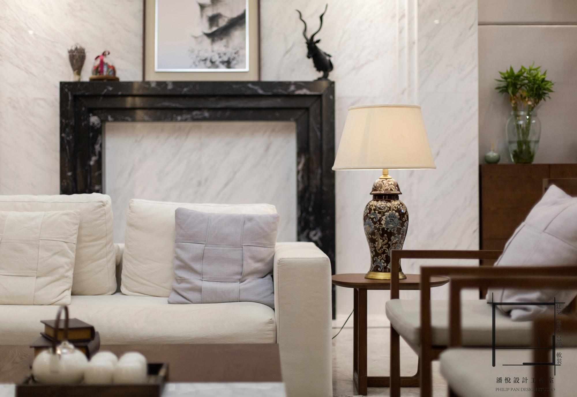 简约 混搭 别墅 小资 壁炉图片来自潘悦设计事务所在雅舍·靜生活-常熟信壹景天花園的分享