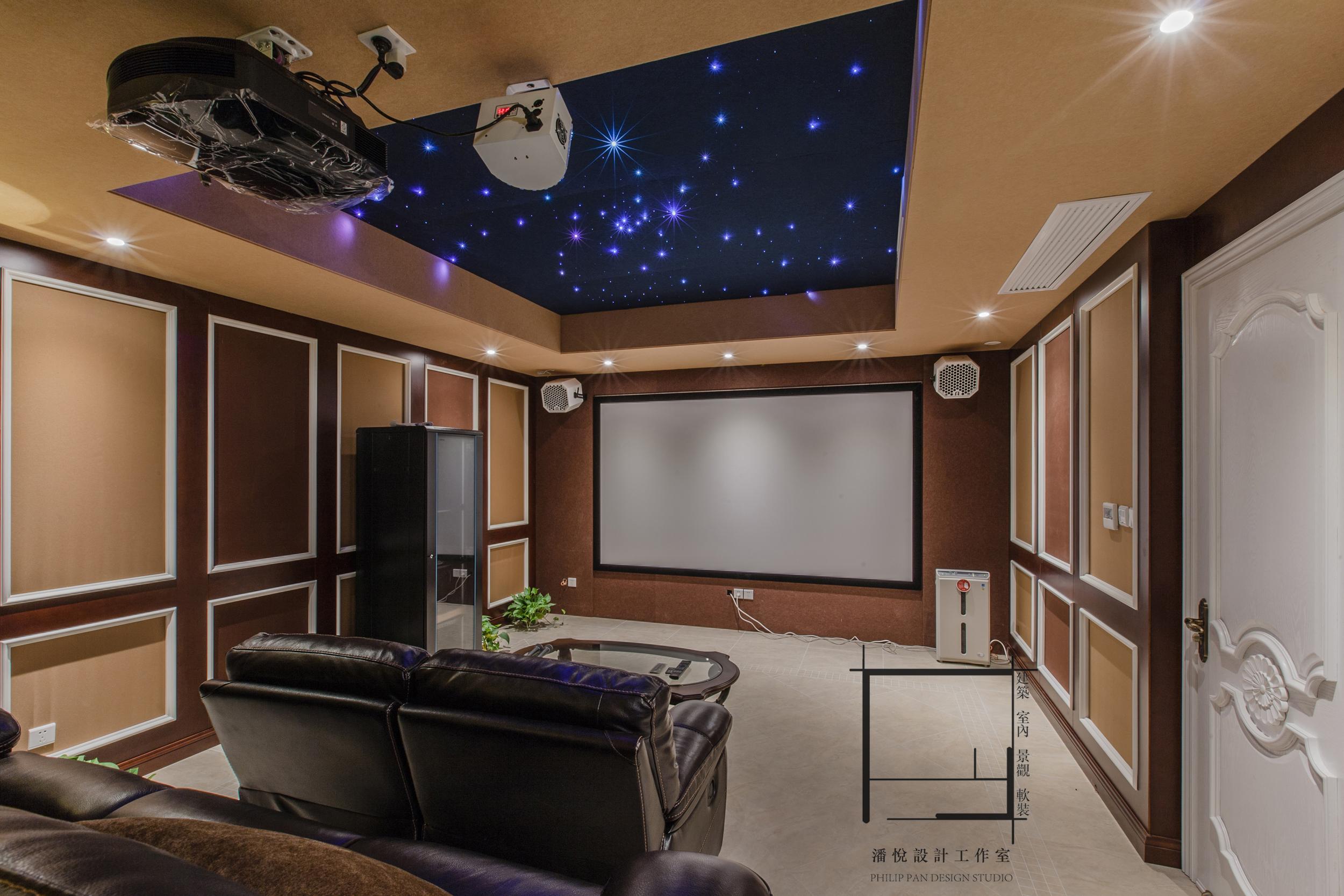 欧式 混搭 80后 小资 地下影视厅图片来自潘悦设计事务所在品味·歐風-上海復地香梔花園的分享