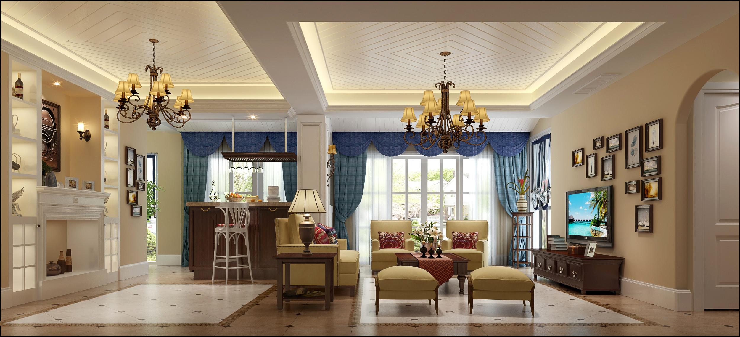 美式风格 福州装修 装修公司 设计 客厅图片来自福州有家装饰-小彭在美式风格1的分享