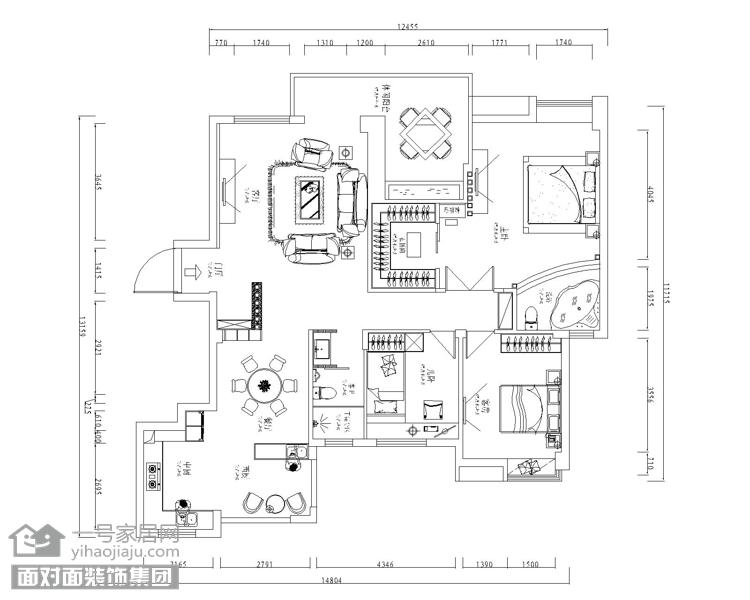 武汉装修 武汉装修报 完工样板间 盛世家园 东南亚风格 户型图图片来自武汉一号家居网装修在盛世家园160平东南亚风实景案例的分享