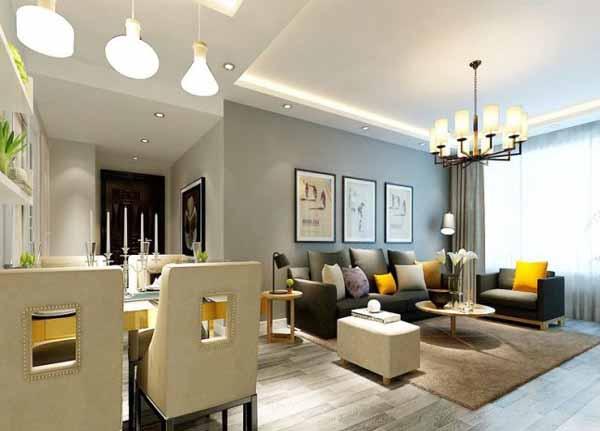 简约 三居 客厅图片来自上海潮心装潢设计有限公司在鼎信花园112平三室一厅简约装修的分享