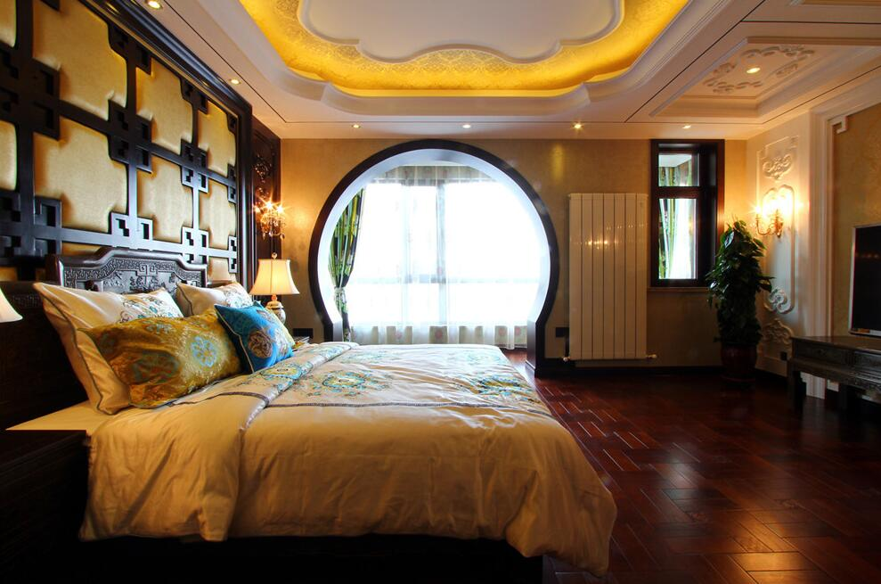 简约 欧式 田园 混搭 二居 三居 别墅 收纳 旧房改造 卧室图片来自紫禁尚品国际装饰高晓媛在稳重奢华的中式风格的分享