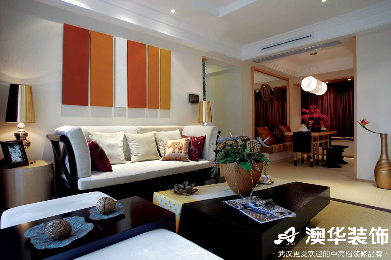 客厅图片来自澳华装饰有限公司在滨湖一号·东南亚风格的分享