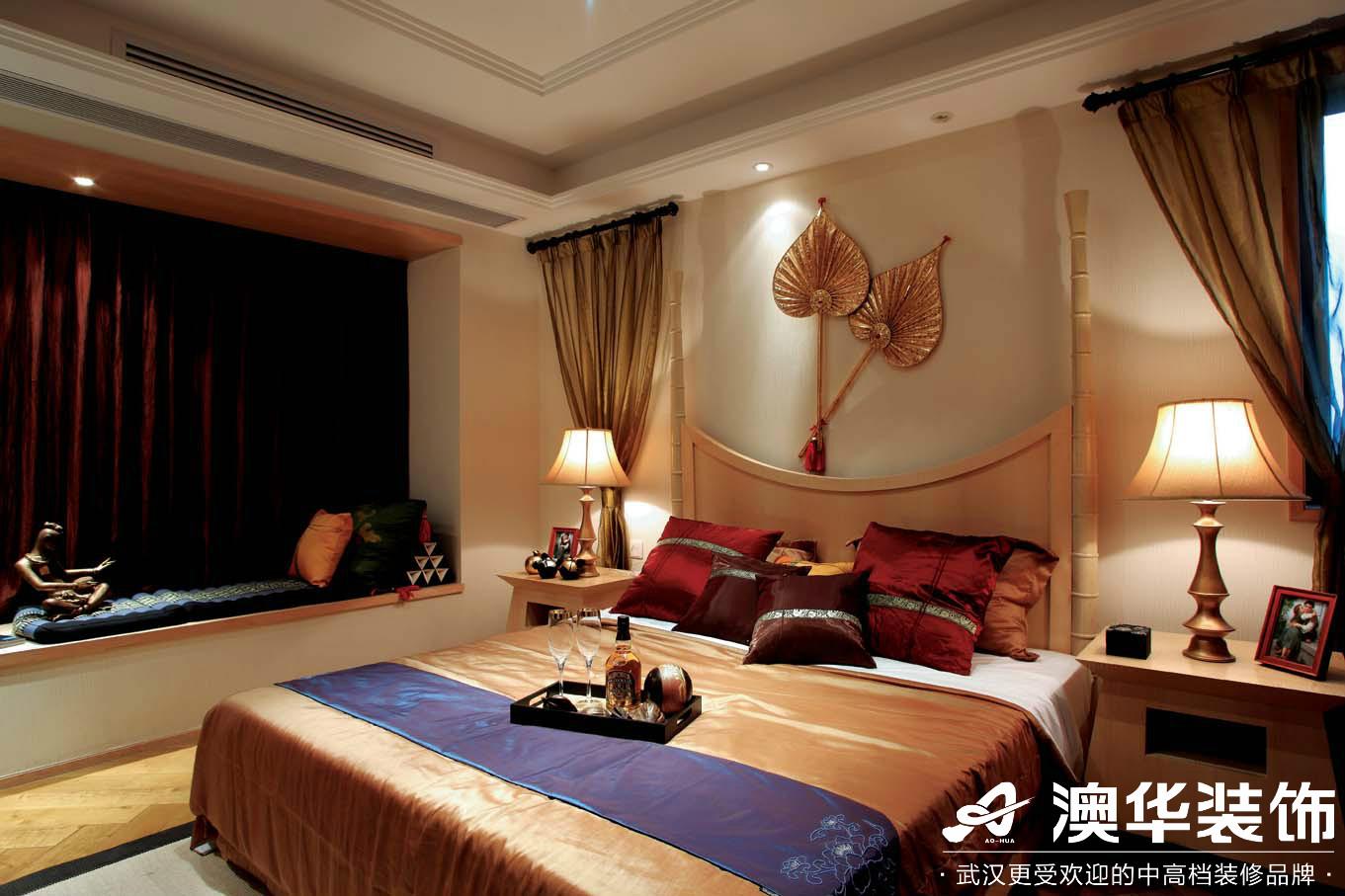 卧室图片来自澳华装饰有限公司在滨湖一号·东南亚风格的分享