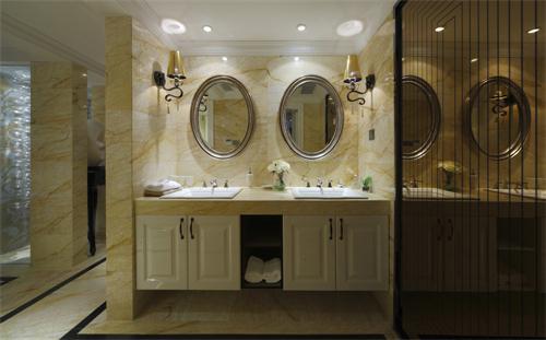 三居 现代 跃层 木质 白领 收纳 卫生间图片来自爱奥尼典石装饰在大木设计-新式现代装修风格的分享