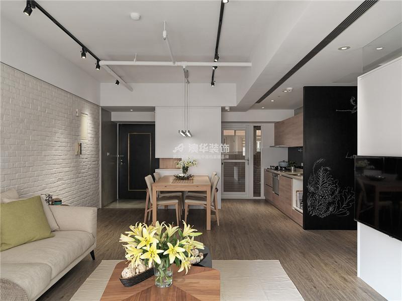 客厅图片来自澳华装饰有限公司在复地东湖国际·现代禅意的分享