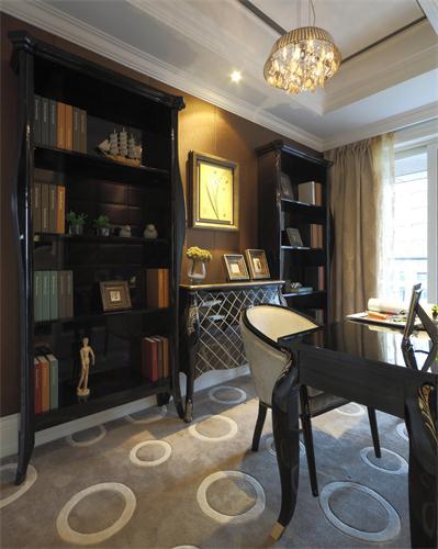 三居 现代 跃层 木质 白领 收纳 书房图片来自爱奥尼典石装饰在大木设计-新式现代装修风格的分享