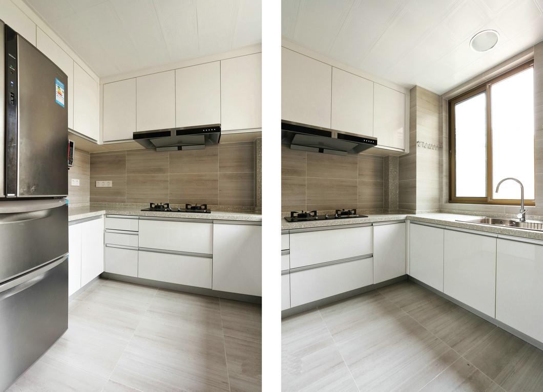 简约 三居 80后 厨房图片来自九鼎建筑装饰工程有限公司成都分在朗基天香95平现代简约温馨小居的分享