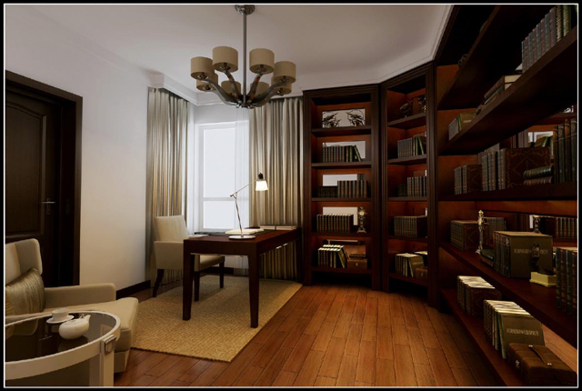书房图片来自北京居然元洲装饰小尼在中间建筑340平米现代风格的分享
