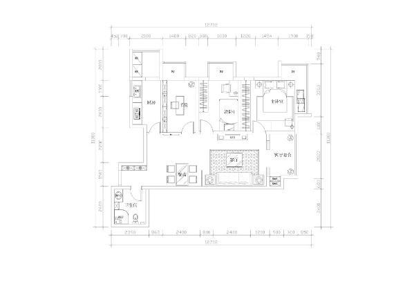 星耀五洲三室两厅一厨一卫99平米本户型为星耀五洲三室两厅一厨一卫99平米的房子,首先从入户门进入,左边是一个通顶的鞋柜,接着往里走是餐厅区域以及客厅区域。