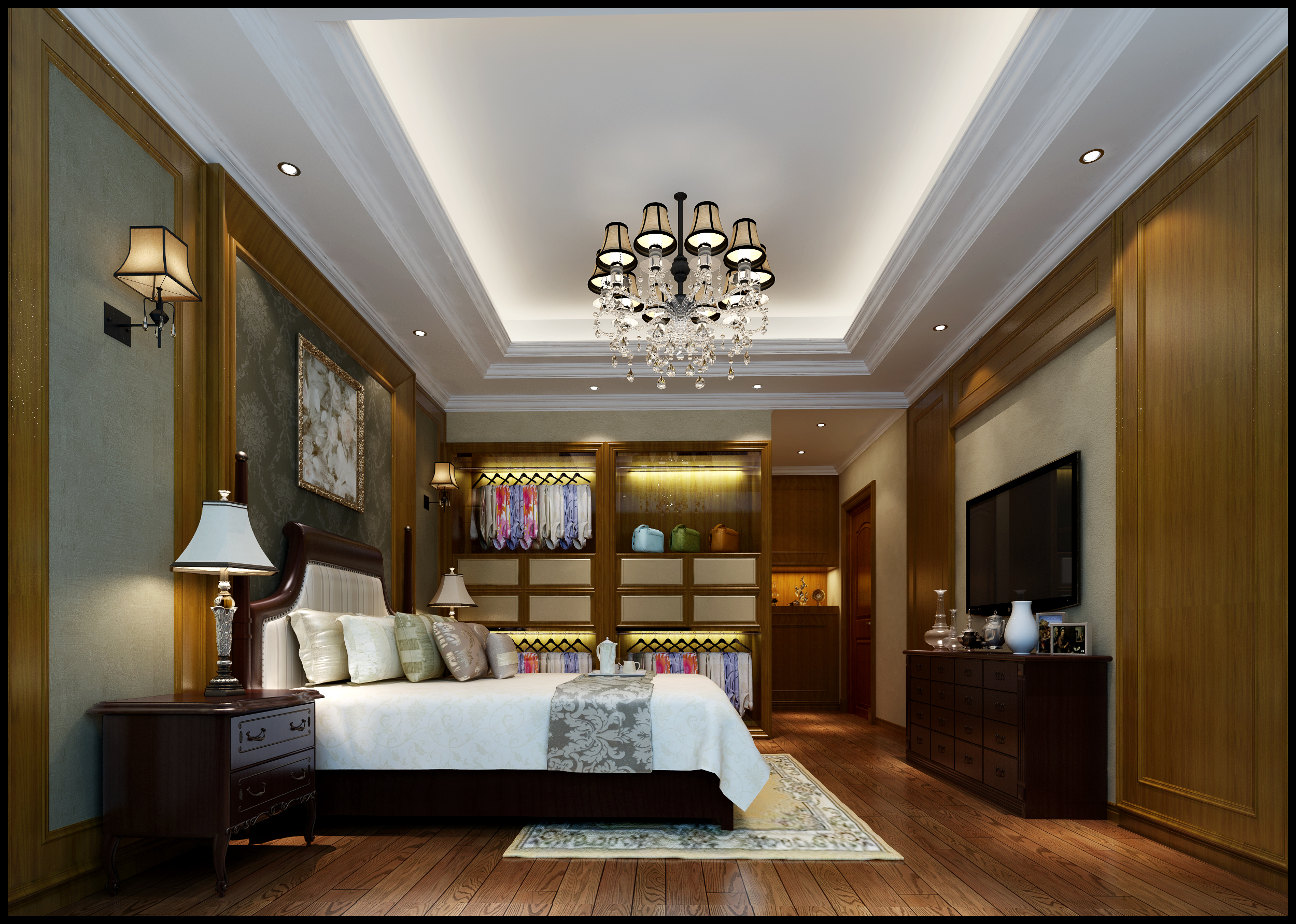 美式风格 福州装修 装修公司 设计 卧室图片来自福州有家装饰-小彭在美式风格1的分享