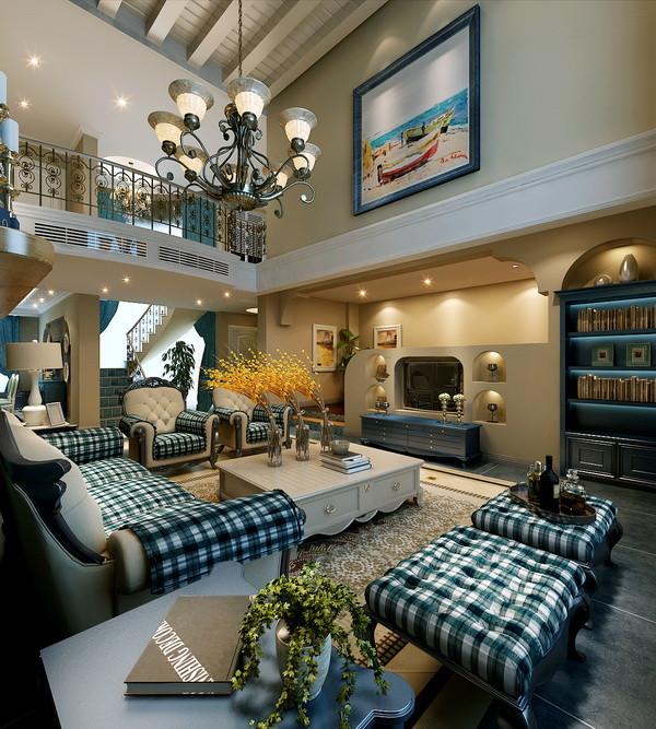 客厅图片来自北京居然元洲装饰小尼在润泽庄园260平米美式休闲的分享
