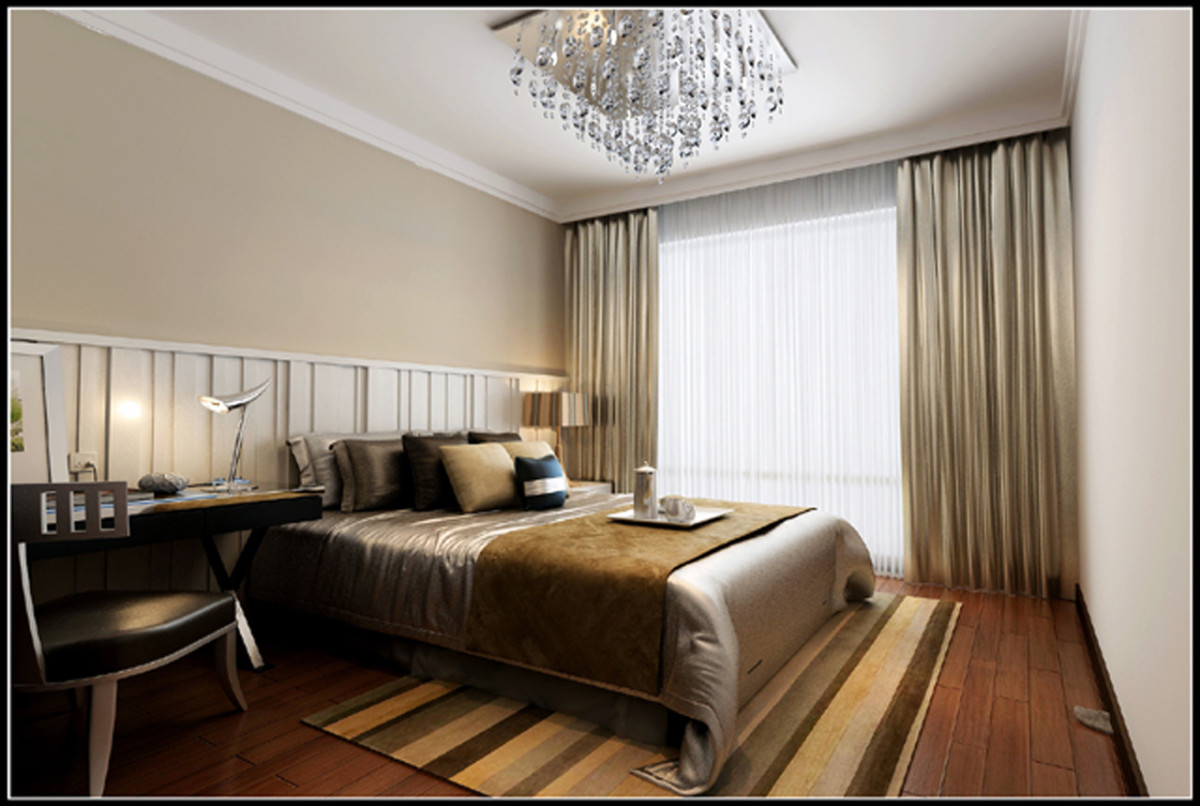 卧室图片来自北京居然元洲装饰小尼在中间建筑340平米现代风格的分享