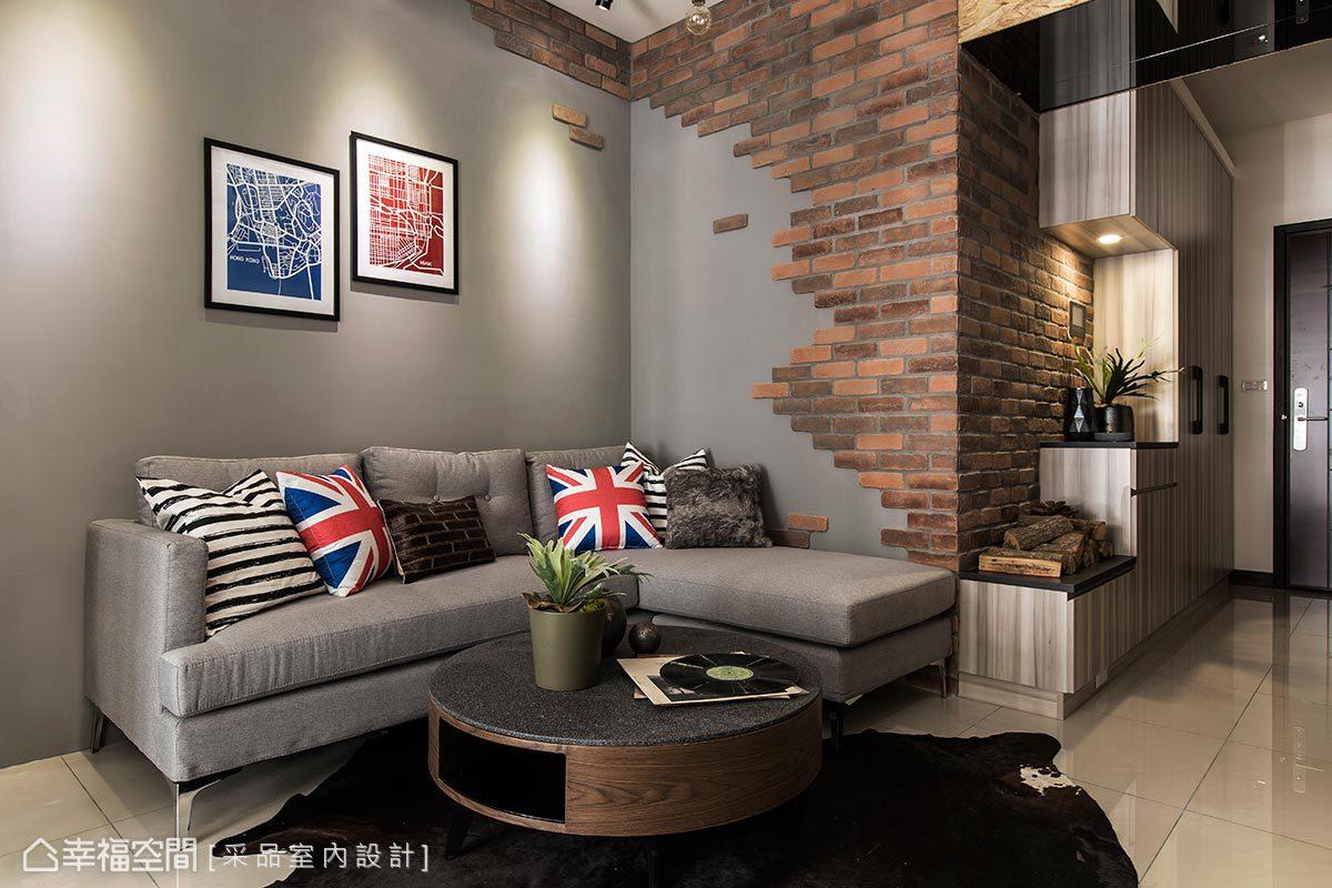 客厅图片来自幸福空间在109平轻盈明亮的工业风宅的分享