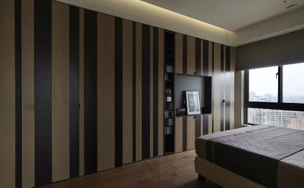 宽敞的卧室化繁为简,再加入各种元素时都能轻松搭配,屋内充满惬意氛围。