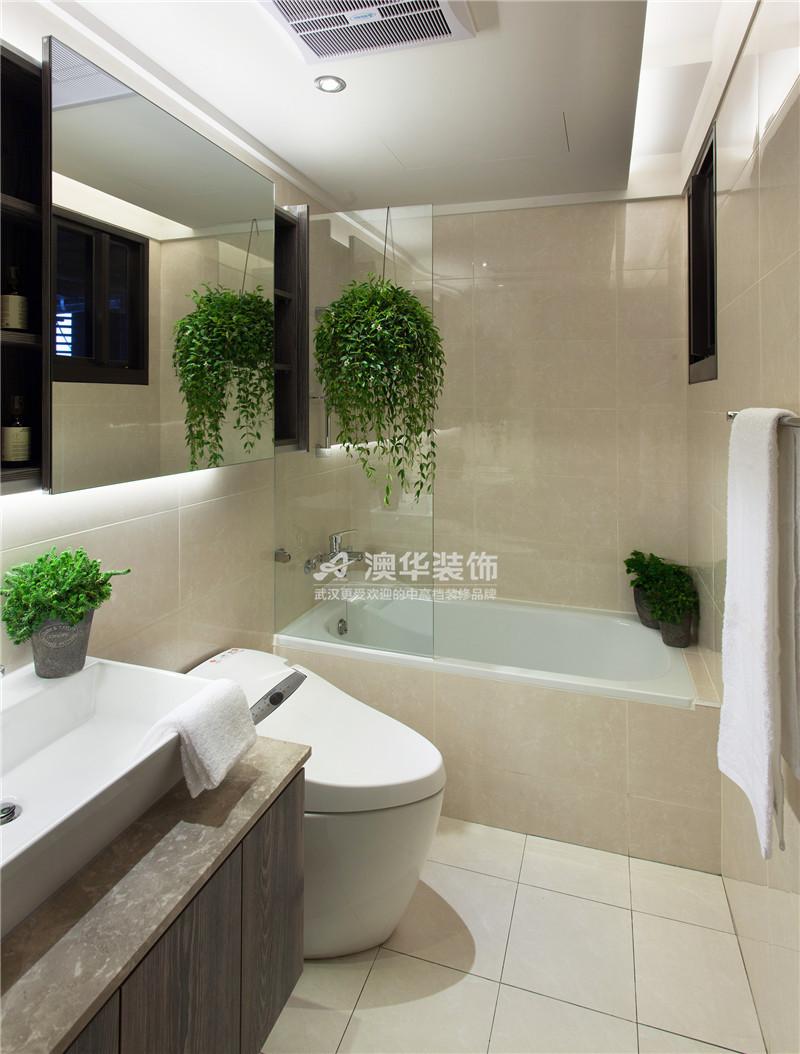卫生间图片来自澳华装饰有限公司在清江泓景·现代摩登腔调的分享