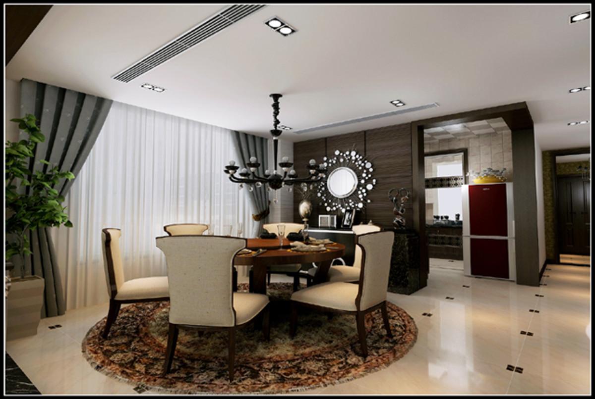 餐厅图片来自北京居然元洲装饰小尼在中间建筑340平米现代风格的分享